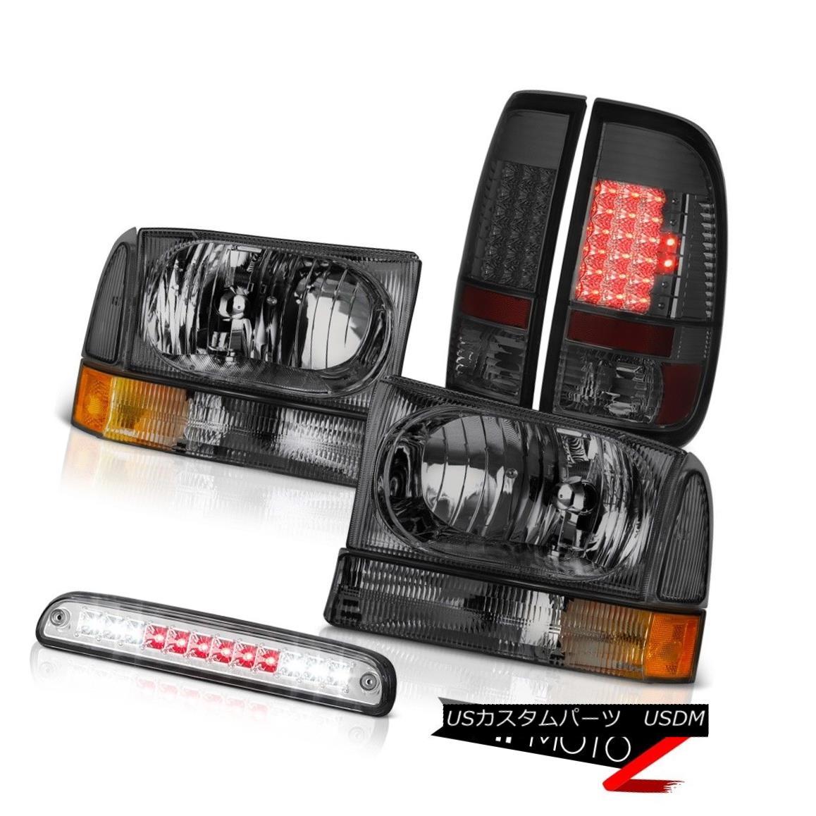 テールライト 99 00 01 02 03 04 F250 5.4L Pair Smoke Headlamps Brake Tail Light Chrome 3rd LED 99 00 01 02 03 04 F250 5.4Lペアスモークヘッドランプブレーキテールライトクローム第3 LED