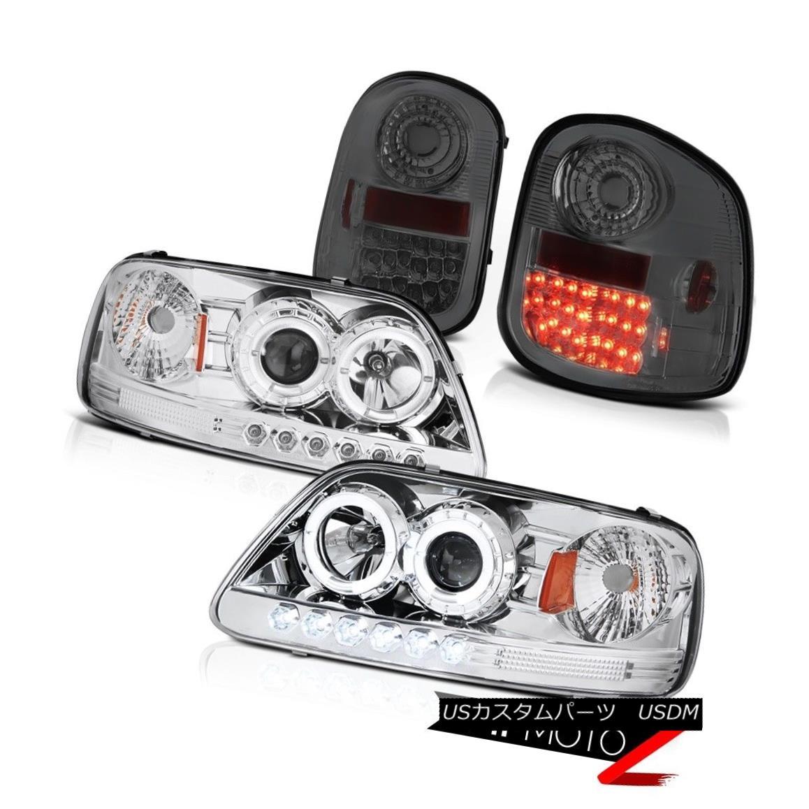 <title>車用品 バイク用品 >> 爆売りセール開催中 パーツ ライト ランプ テールライト Chrome LED Headlight Tinted Brake light 1997-2003 F150 Flareside Harley Davidson クロームLEDヘッドライト着色ブレーキライト1997-2003</title>