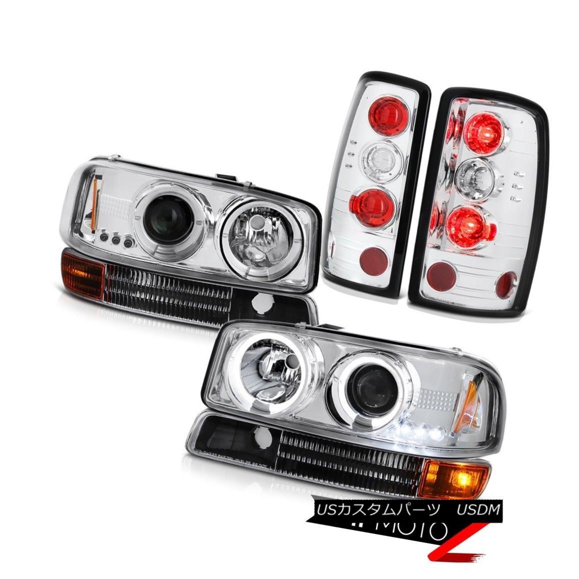 テールライト Barn Door Tail Light 00 01 02 03 04 05 Yukon Halo Projector Headlight Bumper Set バーンドアテールライト00 01 02 03 04 05ユーコンヘイロープロジェクターヘッドライトバンパーセット