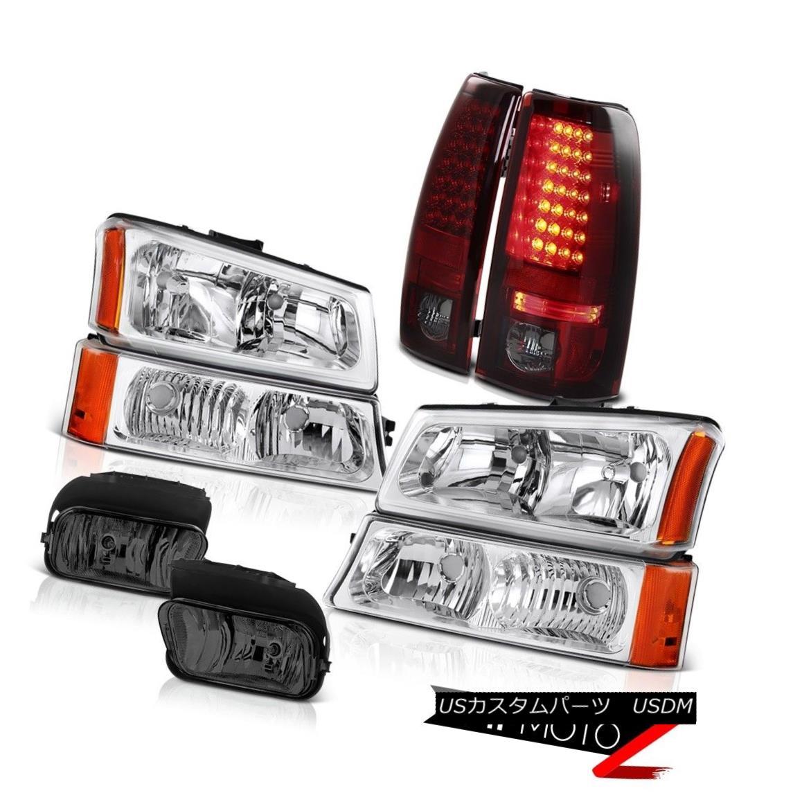 テールライト 03-06 Silverado LS Euro Bumper+Headlamps Bright LED Taillamp Driving Foglights 03-06 Silverado LSユーロバンパー+ヘッドラム ps明るいLEDタイルランプ駆動フォグライト