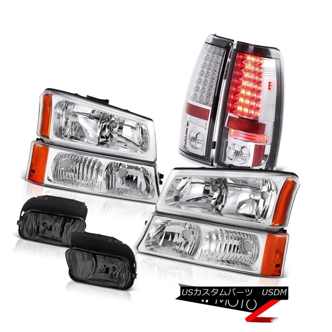 テールライト 2003 2004 Silverado 6.0L V8 Turn Signal Headlamps Smoke LED Tail Lamp Bumper Fog 2003 2004 Silverado 6.0L V8ターンシグナルヘッドライトスモークLEDテールランプバンパーフォグ