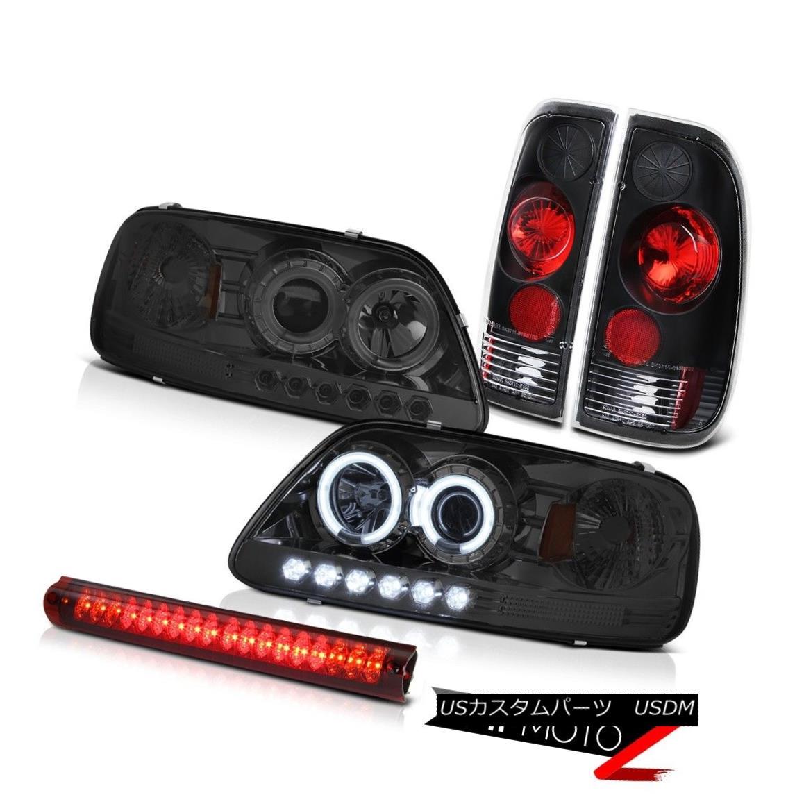 テールライト Smoke CCFL Angel Eye Headlight Signal Tail Lights Roof Brake Lamp 1997-2003 F150 煙CCFLエンジェルアイヘッドライト信号テールライトルーフブレーキランプ1997-2003 F150