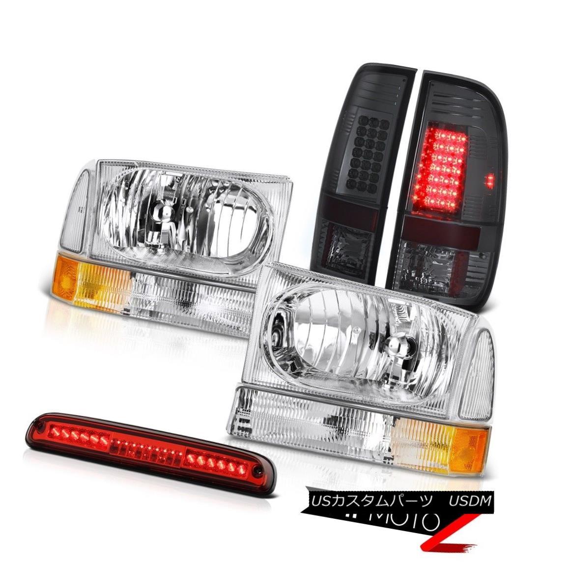 テールライト 99-04 F350 6.8L Chrome Headlights LED Bulbs Tail Light Roof Third Brake Cargo 99-04 F350 6.8LクロームヘッドライトLED電球テールライトルーフ第3ブレーキカーゴ