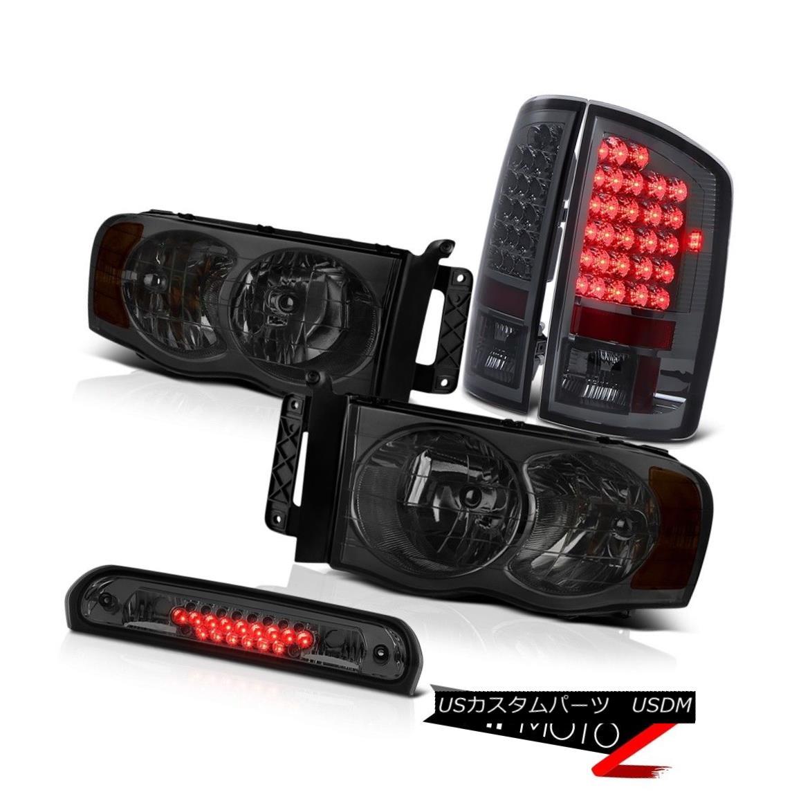 テールライト Dark Smoke Headlamps Tail Lights LED Tinted Third Brake Cargo 2002-2005 Ram WS ダークスモークヘッドランプテールライトLED Tinted Third Brake Cargo 2002-2005 Ram WS
