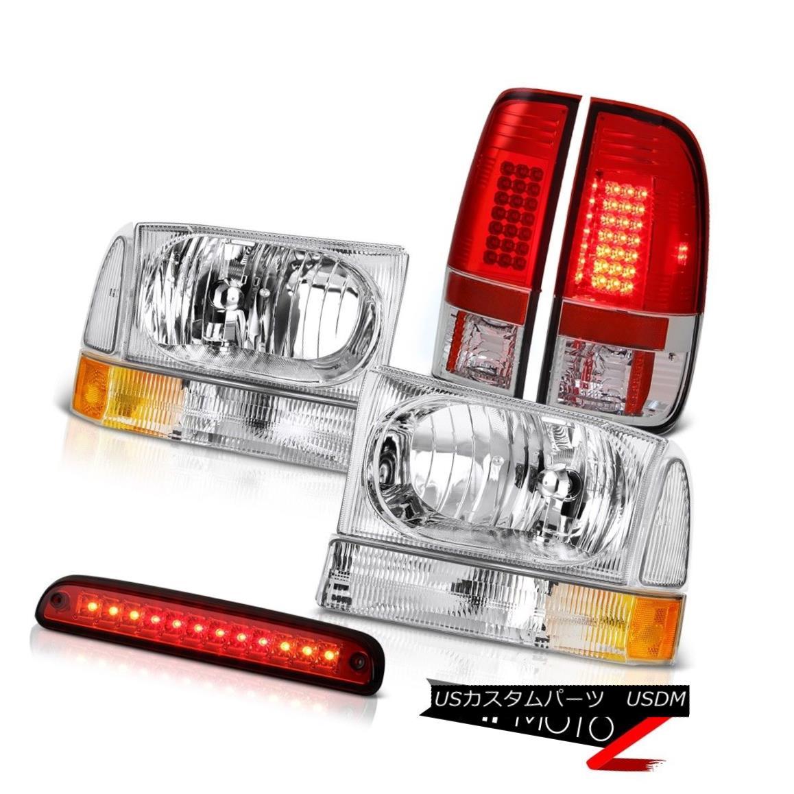 テールライト Euro Headlights High Stop LED Red Signal Tail Light 99 00 01 02 03 04 Ford F250 ユーロヘッドライトハイストップLEDレッド信号テールライト99 00 01 02 03 04 Ford F250