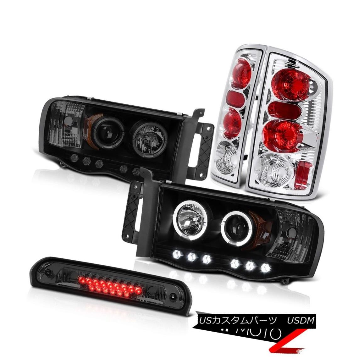 テールライト 2X Halo LED Projector Headlamps Chrome Rear Brake Taillights High 02-05 Ram 3500 2X Halo LEDプロジェクターヘッドランプChrome Rear Brake Tillights High 02-05 Ram 3500