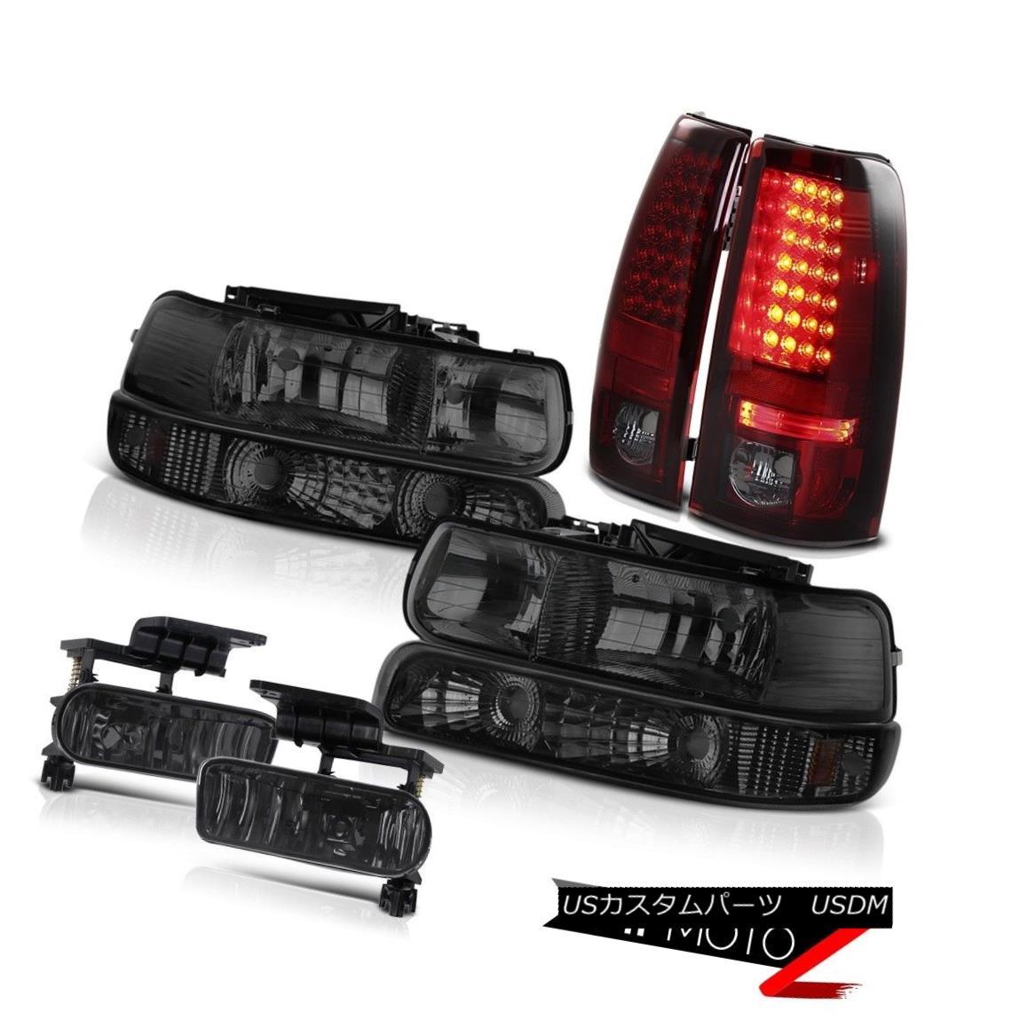 テールライト Bumper Headlights Smokey Red Tail Lights Foglights 99 00 01 02 Silverado 5.3L V8 バンパーヘッドライトスモーキーレッドテールライトFoglights 99 00 01 02 Silverado 5.3L V8