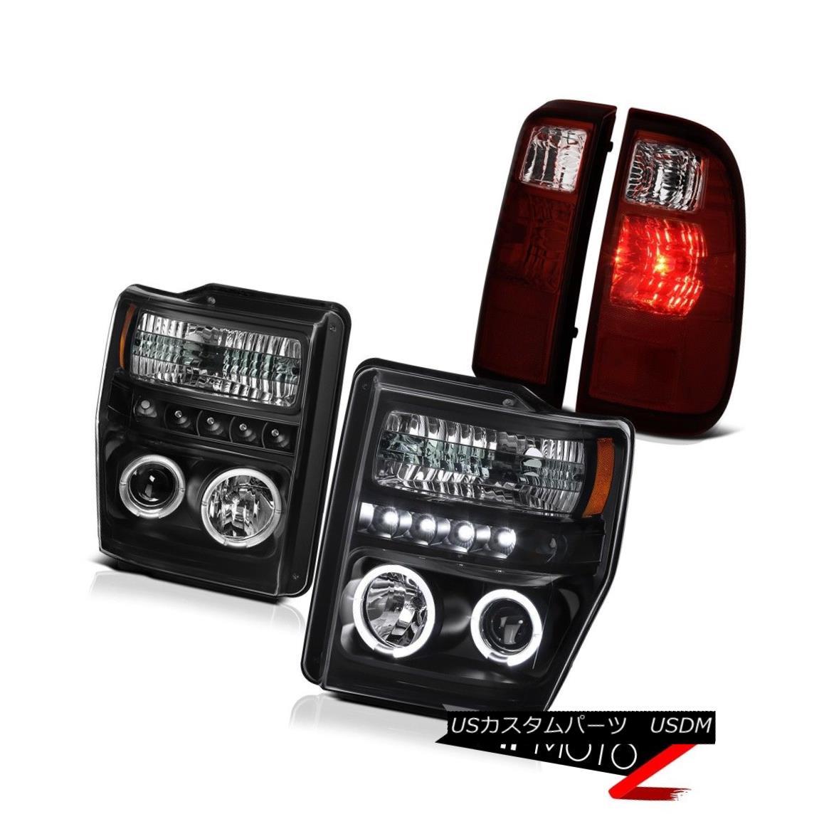 テールライト 2008-2010 F250 F350 King Ranch LED Halo Projector Headlights LED Tail Light Lamp 2008-2010 F250 F350キングランチLEDハロープロジェクターヘッドライトLEDテールライトランプ
