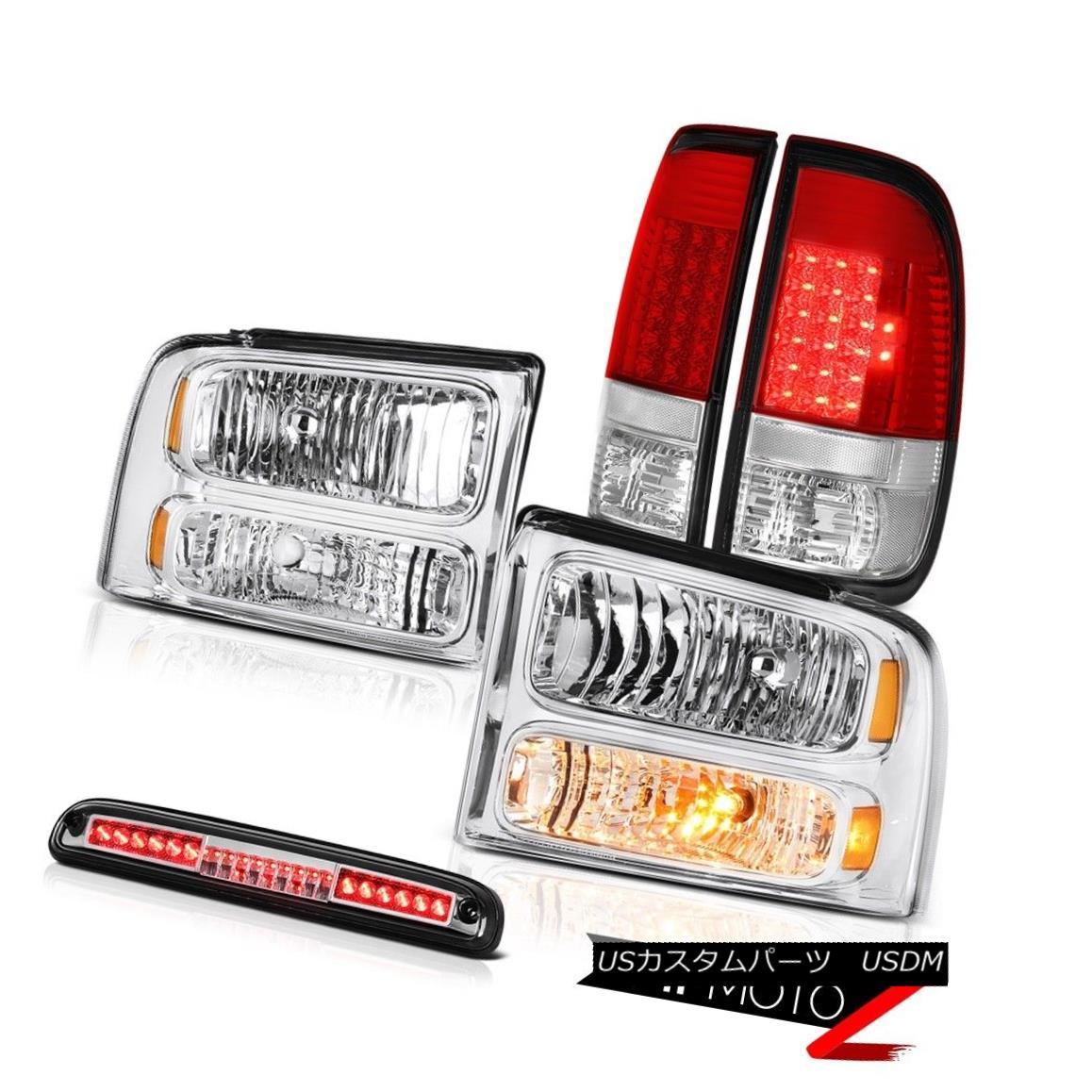 テールライト 05 06 07 F350 XL Left Right Front Headlights LED Tail Lights Roof Brake Chrome 05 06 07 F350 XL左フロントライトヘッドライトLEDテールライトルーフブレーキクローム
