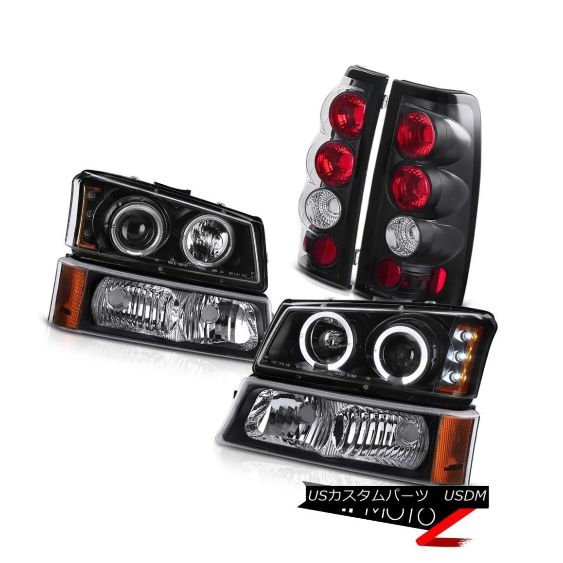テールライト 2003-2006 Silverado DuraMax 6.6L Halo LED Projector Headlights Parking Taillight 2003-2006 Silverado DuraMax 6.6L Halo LEDプロジェクターヘッドライトパーキングテールライト