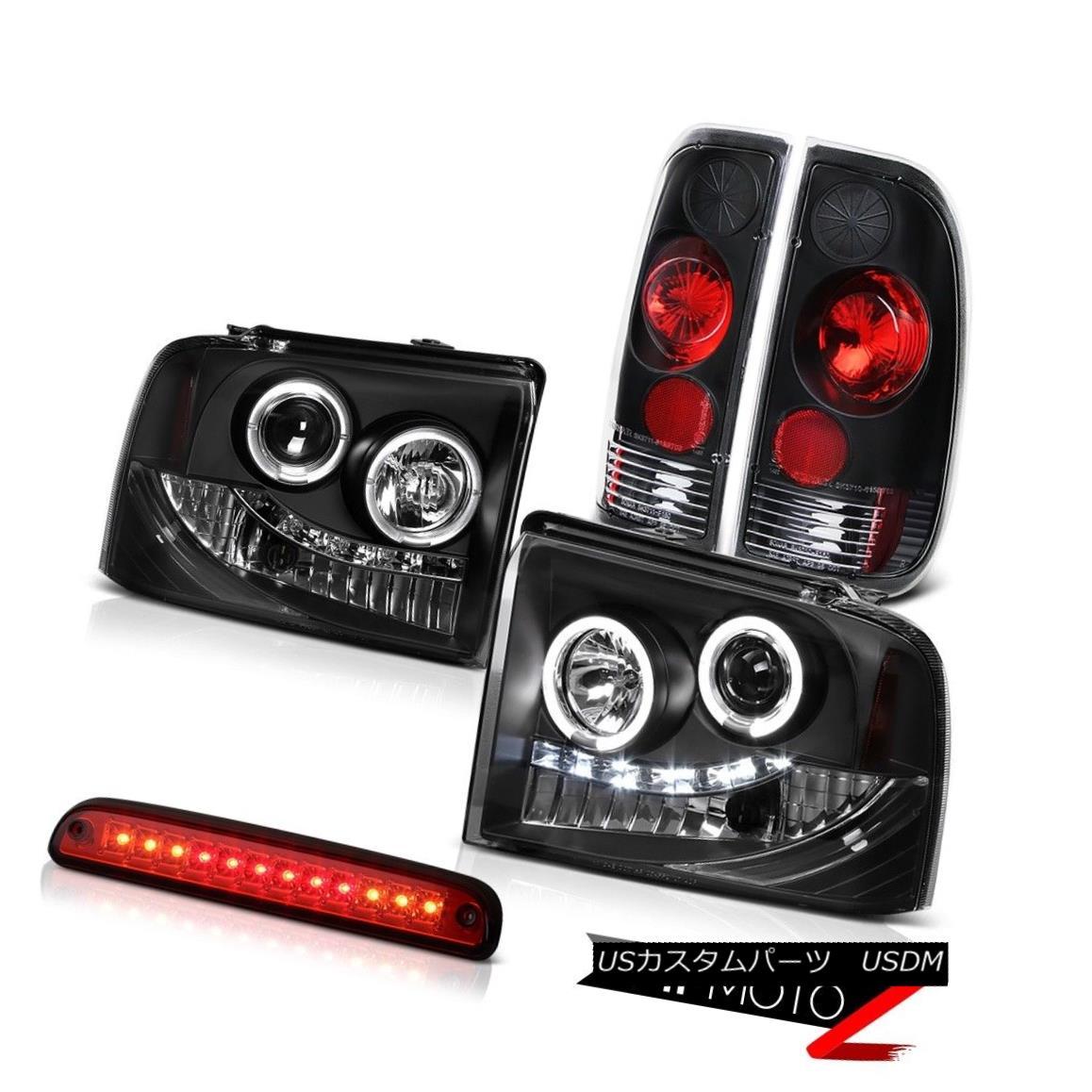 テールライト LED Projector Headlights Rear Black Taillamps Roof Brake 05 06 07 F350 Highline LEDプロジェクターヘッドライトリアブラックタイランプルーフブレーキ05 06 07 F350ハイライン