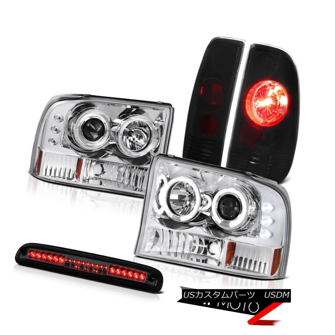 テールライト 99 00 01 02 03 04 F350 6.8L Clear Headlights Darkest TailLight Smoke 3rd Brake 99 00 01 02 03 04 F350 6.8LクリアヘッドライトDarkestテールライトスモーク3rdブレーキ