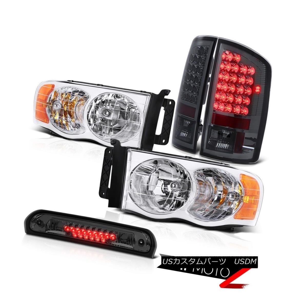 テールライト Pair New Headlights L.E.D Tail Lights Smoke Roof Stop LED Tint 2002-2005 Ram SLT ペア新しいヘッドライトL.E.DテールライトスモークルーフストップLED Tint 2002-2005 Ram SLT