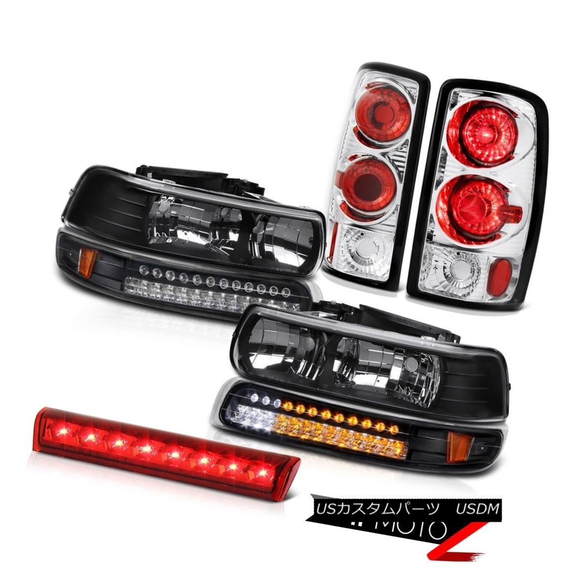 テールライト Satin Black Headlamps SMD Tail Lights 3rd Red 00 01 02 03 04 05 06 Suburban 8.1L サテンブラックヘッドランプSMDテールライト3rd Red 00 01 02 03 04 05 06郊外8.1L