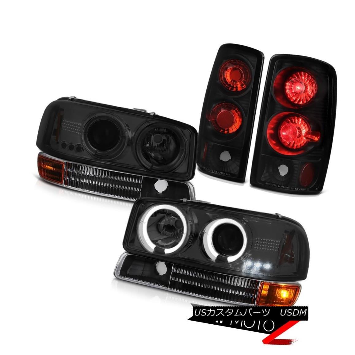 テールライト 2000 01 02 03 04 05 06 Yukon LED Halo Headlights Bumper Signal Clear Tail Lights 2000 01 02 03 04 05 06ユーコンLEDハローヘッドライトバンパー信号クリアテールライト