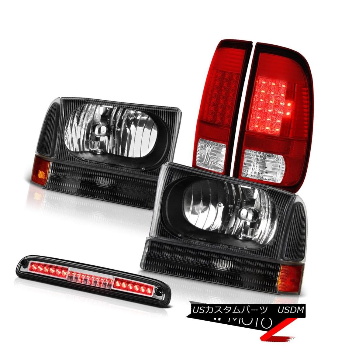 テールライト 99-04 Ford SuperDuty Black Headlights Bright L.E.D Taillamps Euro Third Brake 99-04 Ford SuperDuty BlackヘッドライトBright L.E.D Taillamps Euro Third Brake