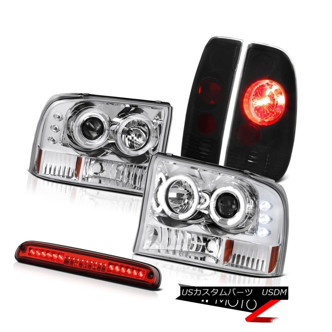 テールライト Headlight Halo DRL LED Sinister Black TailLight Brake Cargo 99-04 Ford SuperDuty ヘッドライトHalo DRL LED Sinister Black TailLightブレーキカーゴ99-04 Ford SuperDuty
