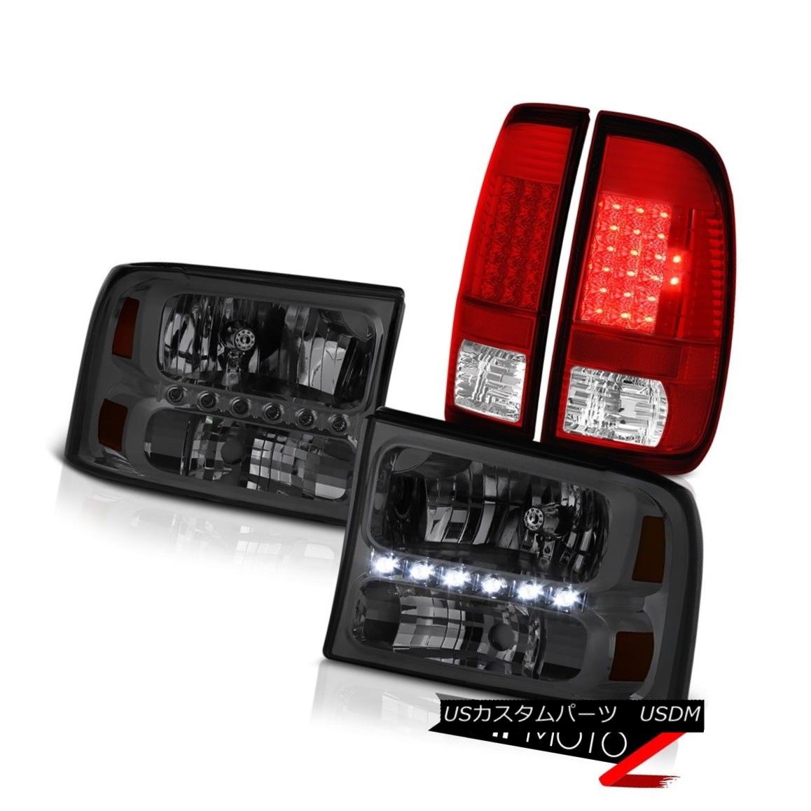 テールライト Smoke Headlights LEFT RIGHT Bright L.E.D Taillamps 1999-2004 F350 Turbo Diesel スモークヘッドライトLEFT RIGHT Bright L.E.D Taillamps 1999-2004 F350 Turbo Diesel