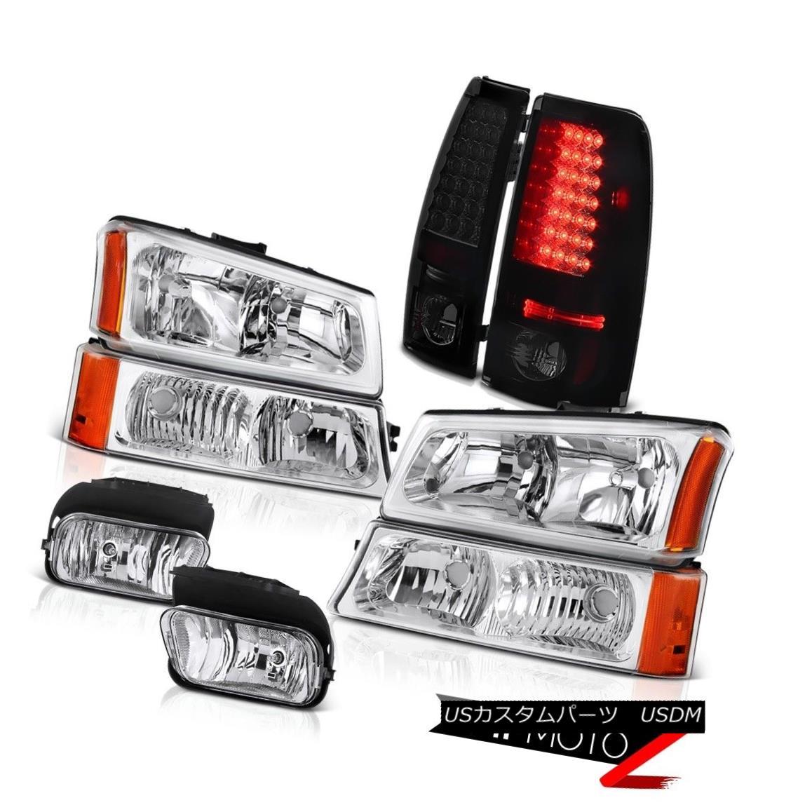 テールライト 03 04 05 06 Silverado SS Euro Bumper+Headlamps Sinister Black LED Tail Light Fog 03 04 05 06 Silverado SSユーロバンパー+ヘッドラム ps詐欺師Black LEDテールライトフォグ