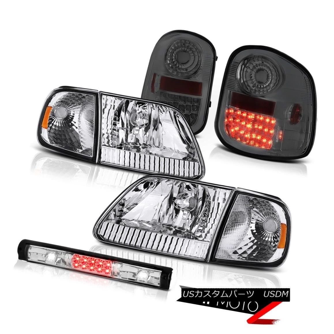 テールライト Signal Headlights L.E.D Tail Lights Smoke Third LED 1997-2003 F150 Flareside XLT シグナルヘッドライトL.E.DテールライトスモークサードLED 1997-2003 F150 Flareside XLT