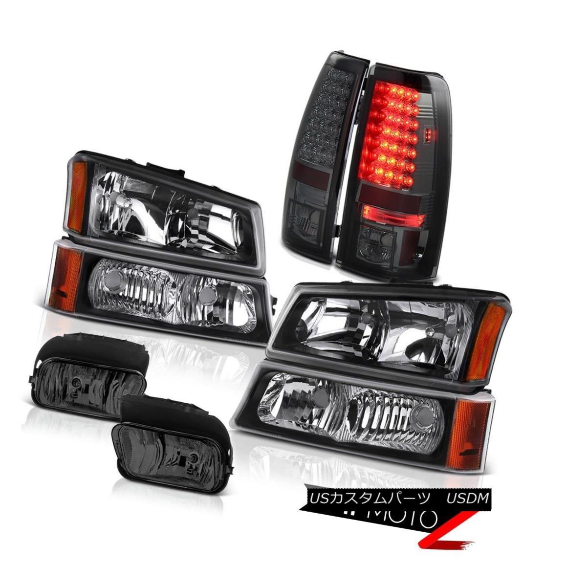 テールライト Silverado 03-06 Bumper Parking Headlights Bright LED Taillamps Front Driving Fog シルバラード03-06バンパーパーキングヘッドライト明るいLEDタイルランプフロントドライビングフォグ