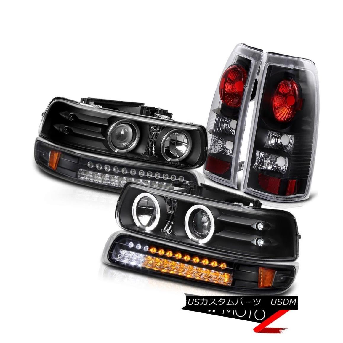 テールライト 99-02 Chevrolet Silverado Truck LED DRL Parking Bumper Tail Light Headlight Lamp 99-02シボレーシルバラードトラックLED DRLパーキングバンパーテールライトヘッドライトランプ