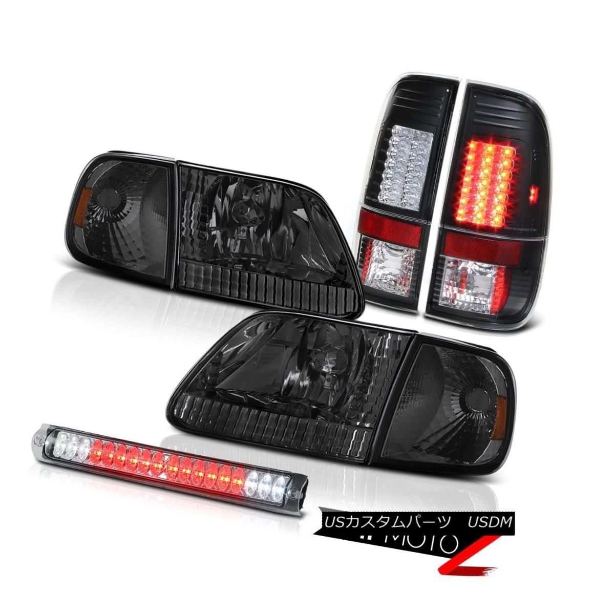 テールライト 1997-2003 Ford F150 Parking Headlights Black LED Tail Light Euro High Stop Cargo 1997-2003フォードF150パーキングヘッドライトブラックLEDテールライトユーロハイストップカーゴ