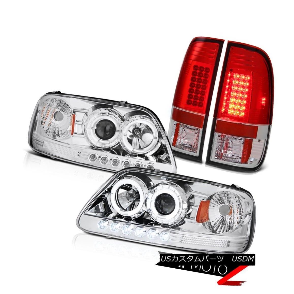 テールライト FORD F150 1999 2000 2001 Clear Halo Angel Eye Headlight BRIGHTEST LED Tail Light フォードF150 1999 2000 2001クリアヘリオエンジェルアイヘッドライトBRIGHTEST LEDテールライト