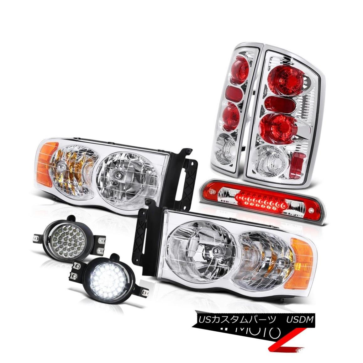 テールライト 02-05 Dodge Ram Factory Style Headlights Signal Tail Lights LED Foglamps Brake 02-05 Dodge Ramファクトリーヘッドライト信号テールライトLED Foglamps Brake