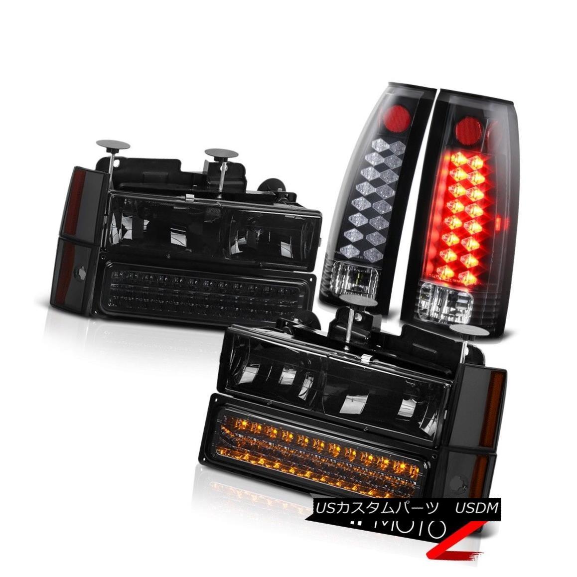 テールライト 1988 1989 1990 1991 1992 1993 CK 1500 2500 Smoke Headlights LED Black Brake Lamp 1988 1989 1990 1991 1992 1993 CK 1500 2500スモークヘッドライトLEDブラックブレーキランプ