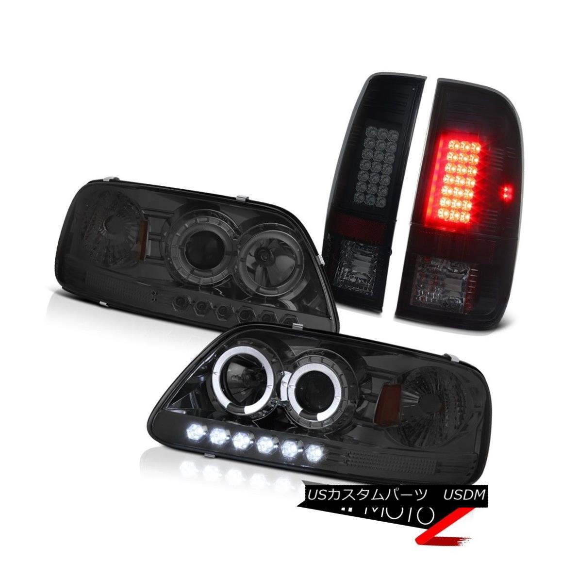 テールライト Halo Projector Smoke Headlights 1997-2003 F150 V8 Philip SuperFlux LED Taillight ハロープロジェクタースモークヘッドライト1997-2003 F150 V8 Philip SuperFlux LEDテールライト