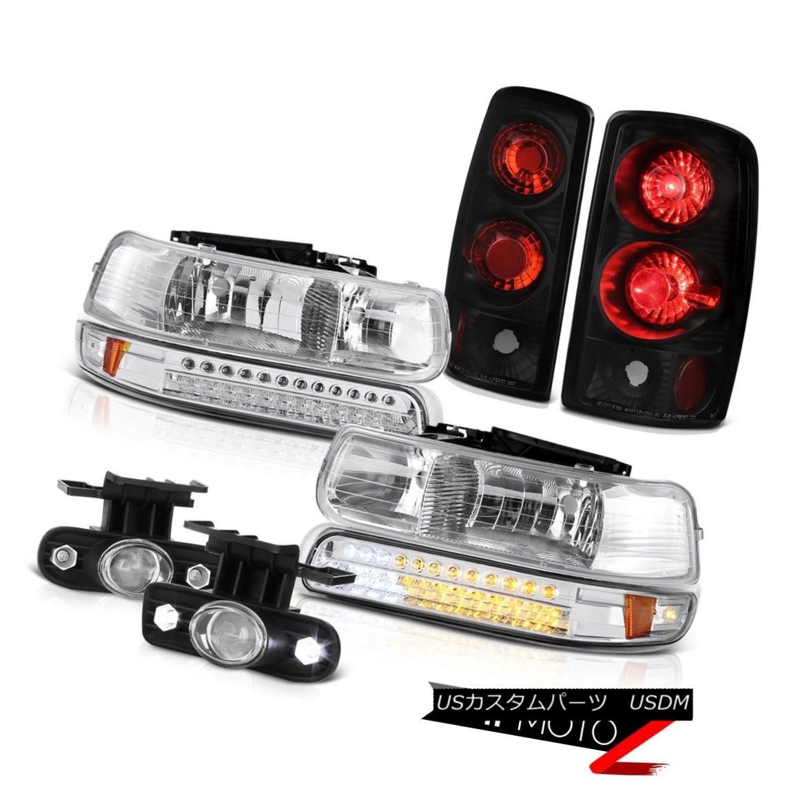 テールライト 04 05 06 Suburban LT LED Parking Headlights Rear Black Brake Lamps Projector Fog 04 05 06郊外のLT LEDパーキングヘッドライトリアブラックブレーキランププロジェクターフォグ