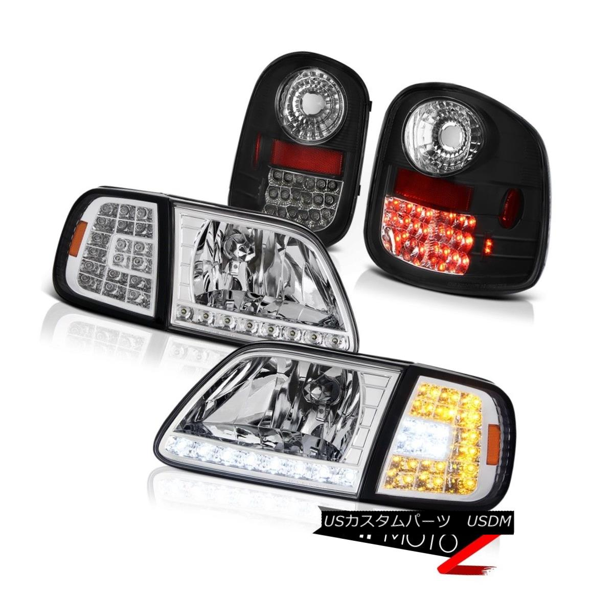 テールライト LED Signal Headlamps Bright Tail Lights 1997-2003 Ford F150 Flareside Lightning LED信号ヘッドライトブライトテールライト1997-2003 Ford F150 Flareside Lightning