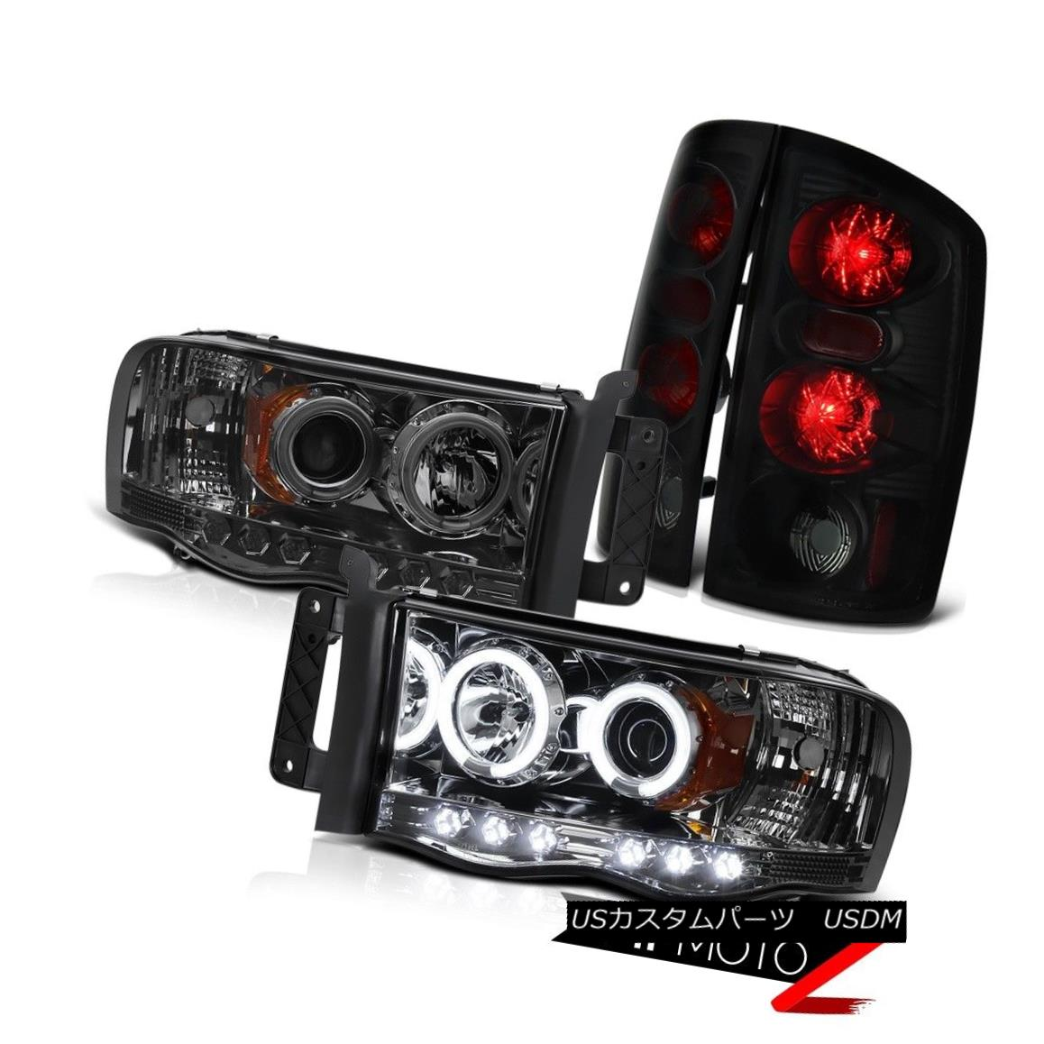 テールライト DODGE Ram 02-05 1500 | 03-05 2500 3500 Smoke Halo LED Headlight Tail Lights CCFL DODGE Ram 02-05 1500 | 03-05 2500 3500 Smoke Halo LEDヘッドライトテールライトCCFL