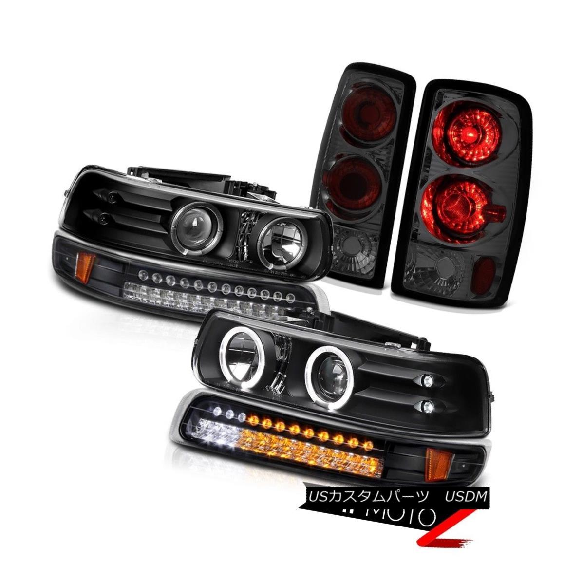テールライト 2000-2006 Suburban 8.1L Black DRL Projector Headlamp LED Parking Brake Tail Lamp 2000-2006郊外8.1LブラックDRLプロジェクターヘッドランプLEDパーキングブレーキテールランプ