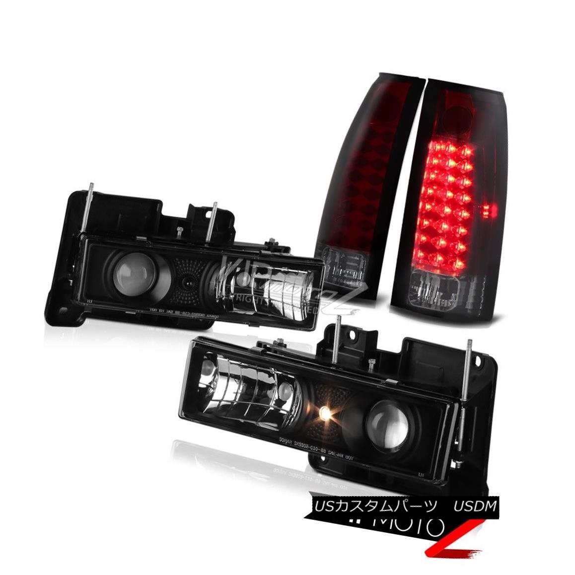 テールライト [WINE RED] LED Brake Tail Lights Black Head Lights 88-98 C/K 1500 2500 3500 C10 [ワインレッド] LEDブレーキテールライトブラックヘッドライト88-98 C / K 1500 2500 3500 C10