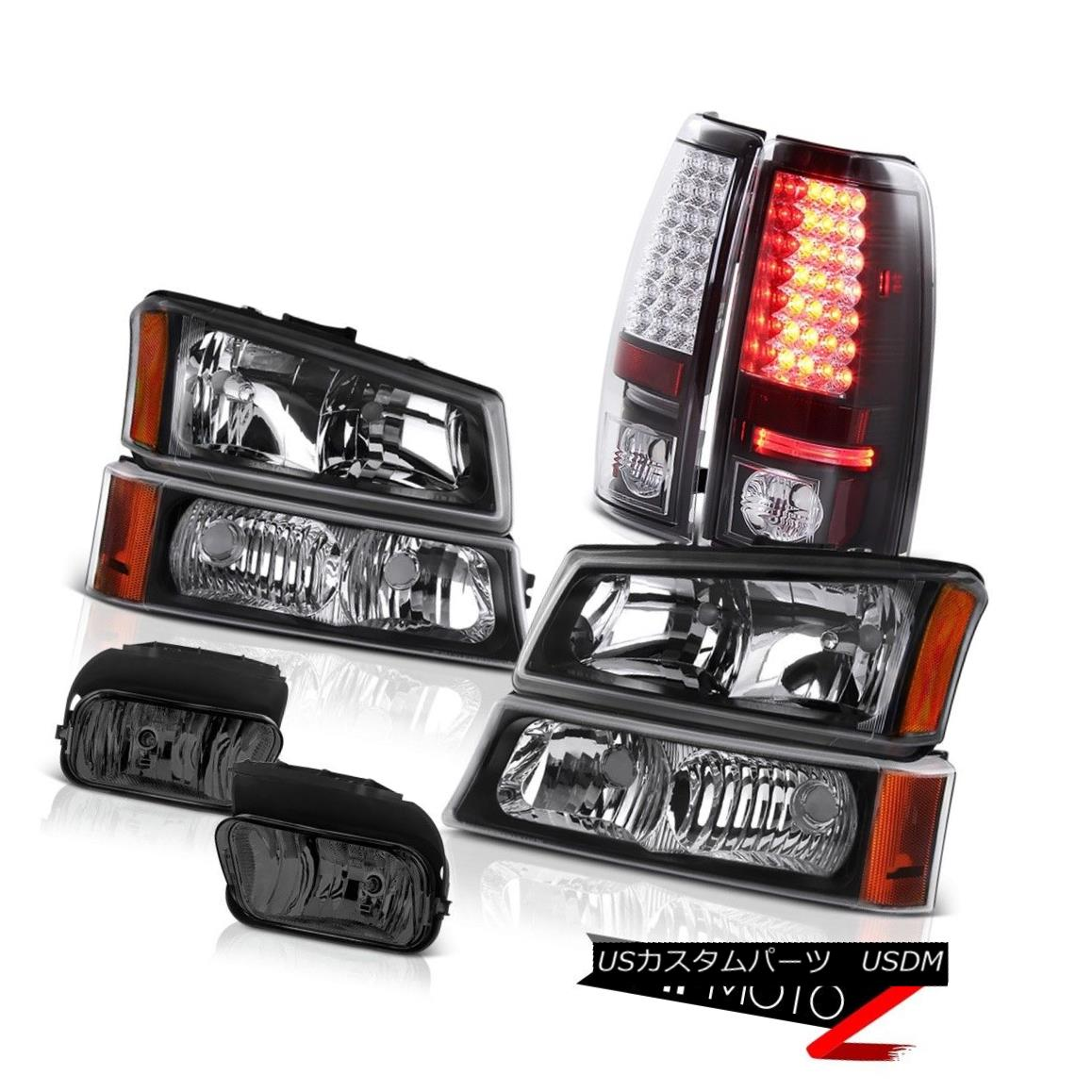テールライト 2003-2006 Silverado Vortec Max Headlights L.E.D Rear Tail Lights Driving Foglamp 2003-2006 Silverado VortecマックスヘッドライトL.E.DリアテールライトFoglamp