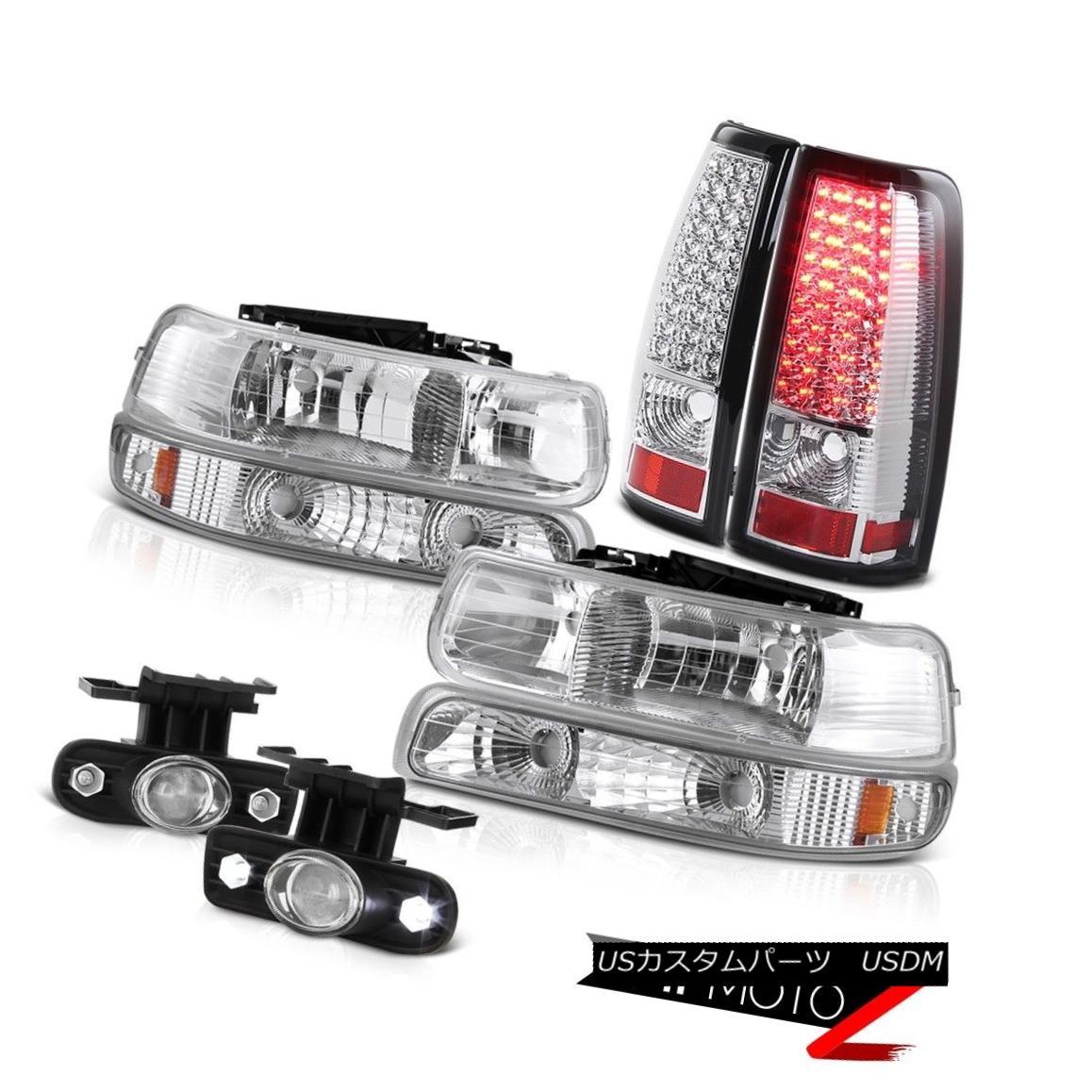 テールライト 1999-2002 Silverado Extended Regular Headlamps Bright LED Tail Lights Fog Lamp 1999-2002シルバラード拡張レギュラーヘッドランプ明るいLEDテールライトフォグランプ