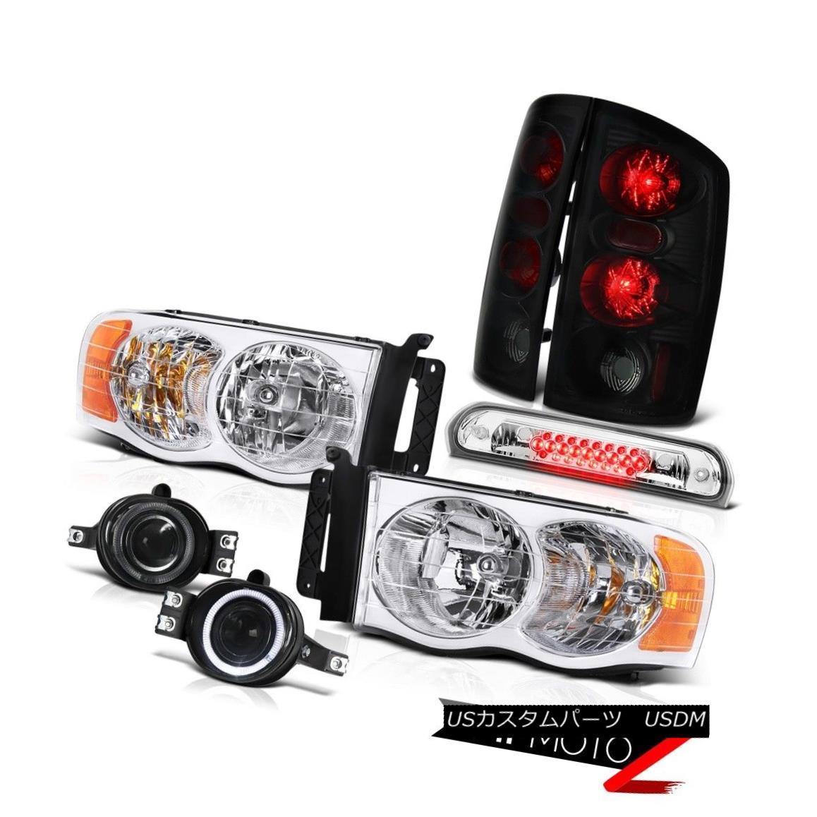 テールライト 2002-2005 Ram Headlamp Sinister Black Brake Lights Smoke Fog Chrome 3rd LED 2002-2005 Ram Headlamp SinisterブラックブレーキライトSmoke Fog Chrome 3rd LED