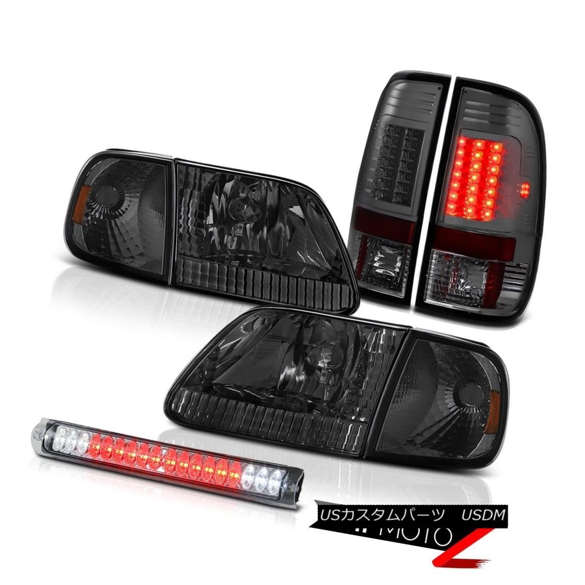テールライト 1997-2003 F150 XLT Smoke Corner Headlamps Parking Tail Lights Euro 3rd Brake LED 1997-2003 F150 XLTスモークコーナーヘッドランプパーキングテールライトユーロ第3ブレーキLED
