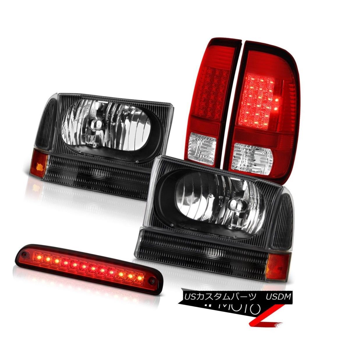 テールライト 99-04 F350 Turbo Diesel Black Diamond Headlights LED Signal Taillamps Cargo 3rd 99-04 F350ターボディーゼルブラックダイヤモンドヘッドライトLED信号タイルランプ貨物第3