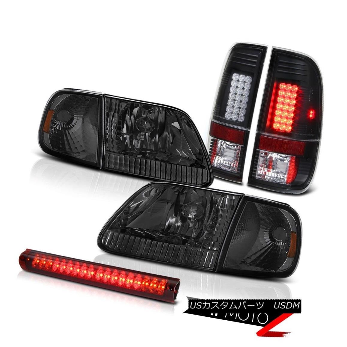 テールライト 97-03 F150 5.4L Smoke Corner+Headlights Black LED Tail Lights Roof Brake Cargo 97-03 F150 5.4Lスモークコーナー+ヘッドランプ htsブラックLEDテールライトルーフブレーキカーゴ