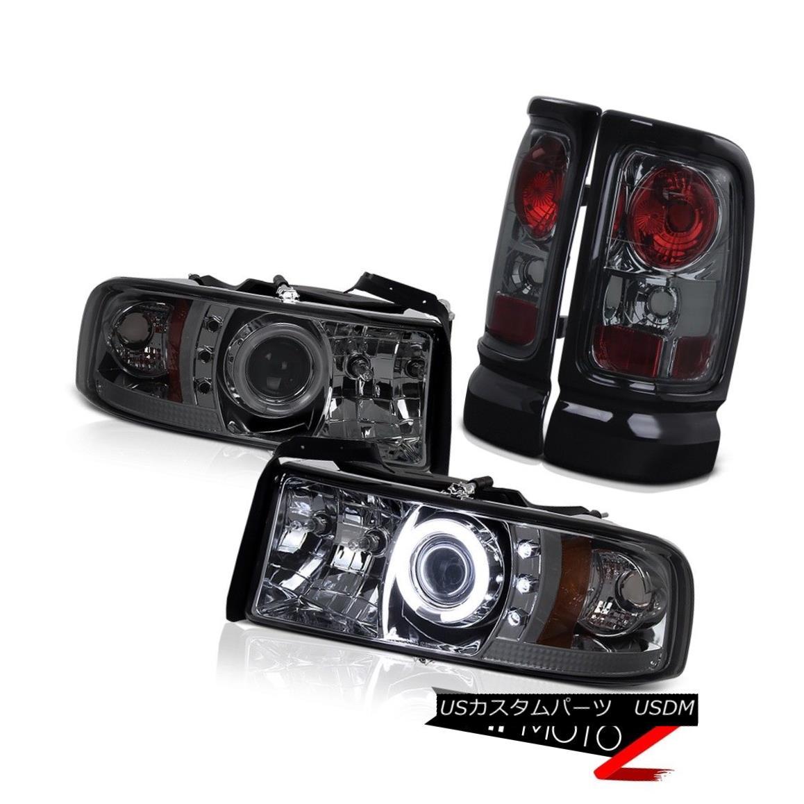 テールライト Dodge RAM 94-01 1500 *CCFL* HaLo Projector Smoke Led Headlight+Tail Light COMBO ドッジRAM 94-01 1500 * CCFL *ハロープロジェクター煙ヘッドライト+テールライトコンボ