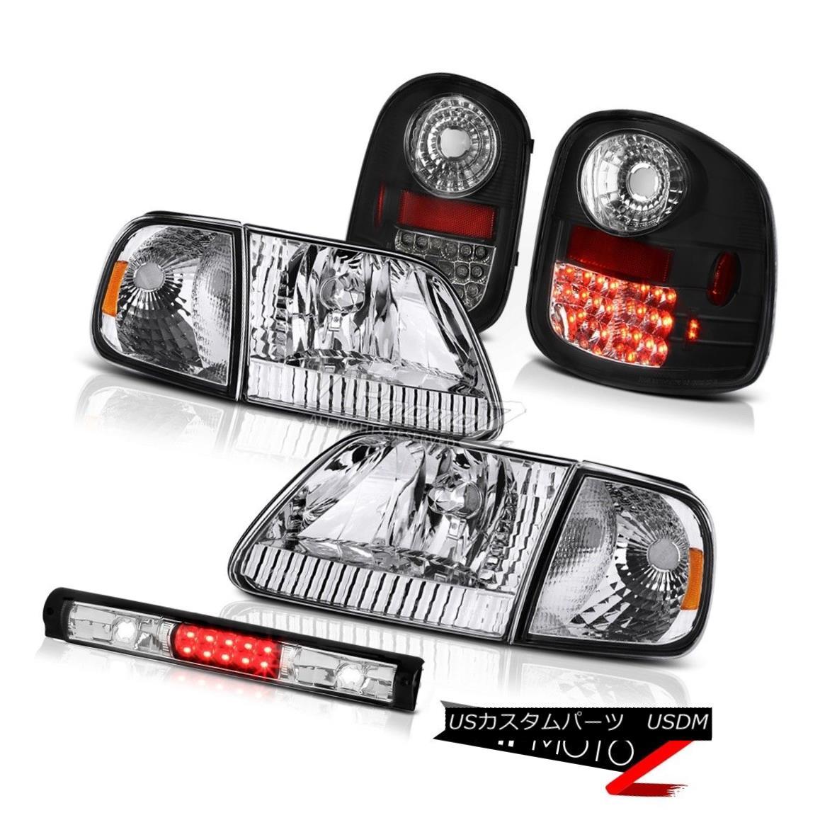 テールライト Signal Headlamp Bright LED Tail Lights High Stop Black 97-03 F150 Flareside 5.4L 信号ヘッドランプ明るいLEDテールライトハイストップブラック97-03 F150フラレイド5.4L