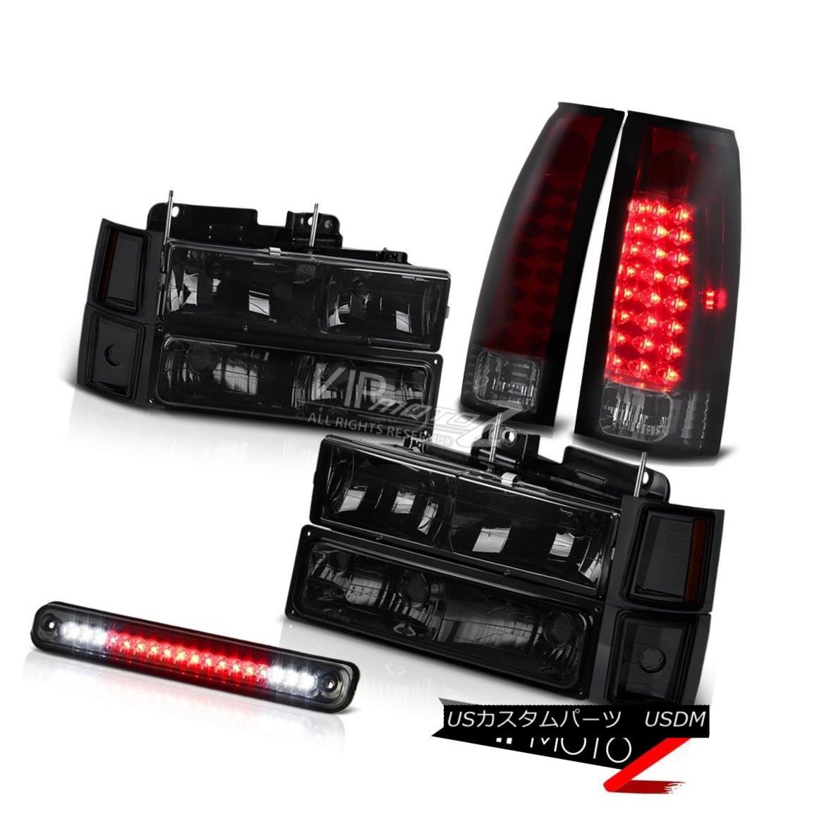テールライト Chevrolet Silverado C10 Smoke Red LED Tail Light Third Brake Headlights Headlamp シボレーシルバラードC10煙レッドLEDテールライト第3ブレーキライトヘッドランプ
