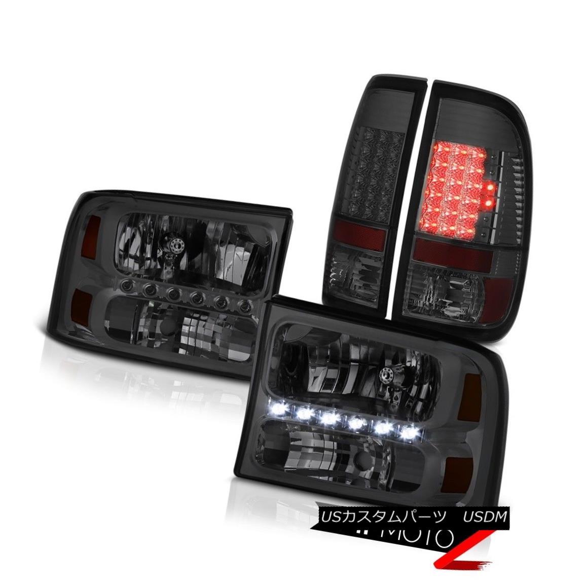 テールライト Left Right Smoke Headlights Parking Tail Lights 99 00 01 02 03 04 Ford F250 6.8L 左右スモークヘッドライトパーキングテールライト99 00 01 02 03 04 Ford F250 6.8L