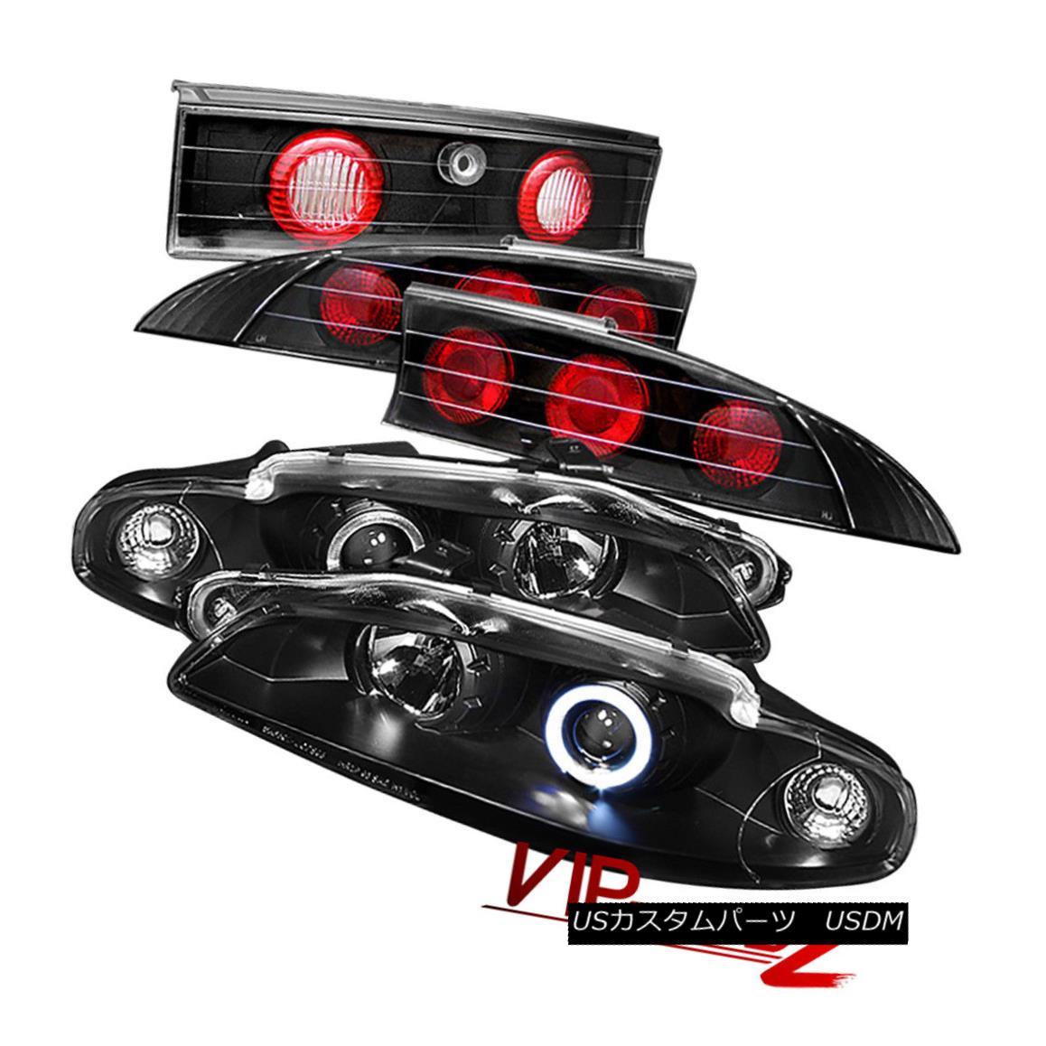 テールライト [VIPMOTOZTOPPICK] Black Red Brake Tail Light+Halo Projector Headlights Headlamps [VIPMOTOZTOPPI CK]ブラックレッドブレーキテールライト+ハロープロジェクターヘッドライトヘッドランプ