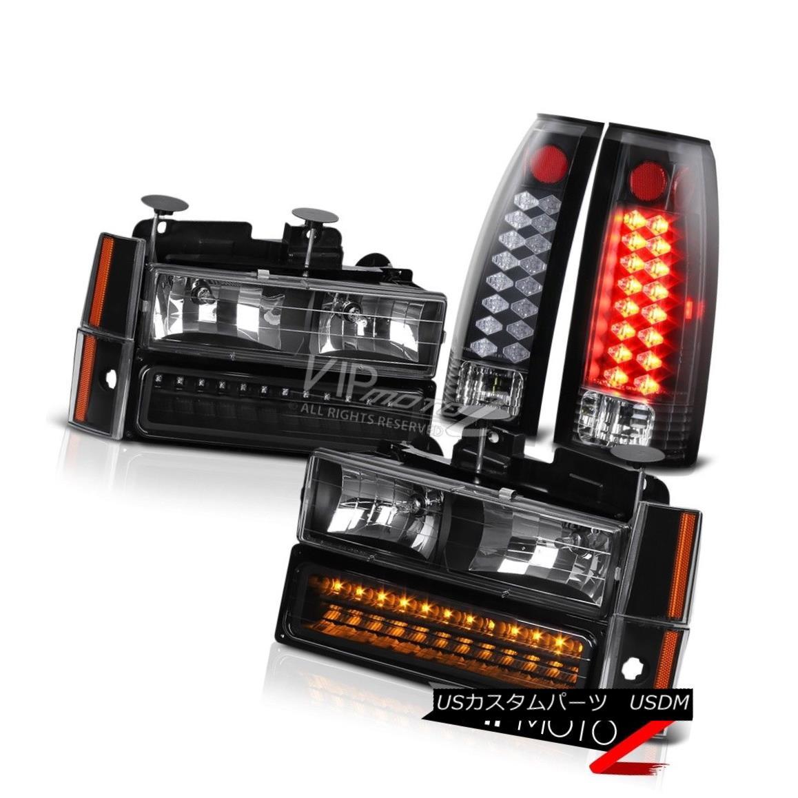 テールライト [QUALITY] LED Rear Tail Lights Assembly+8PC Front Headlight Parking Bumper Lamp [品質] LEDリアテールライトアセンブリ+ 8PCフロントヘッドライトパーキングバンパーランプ