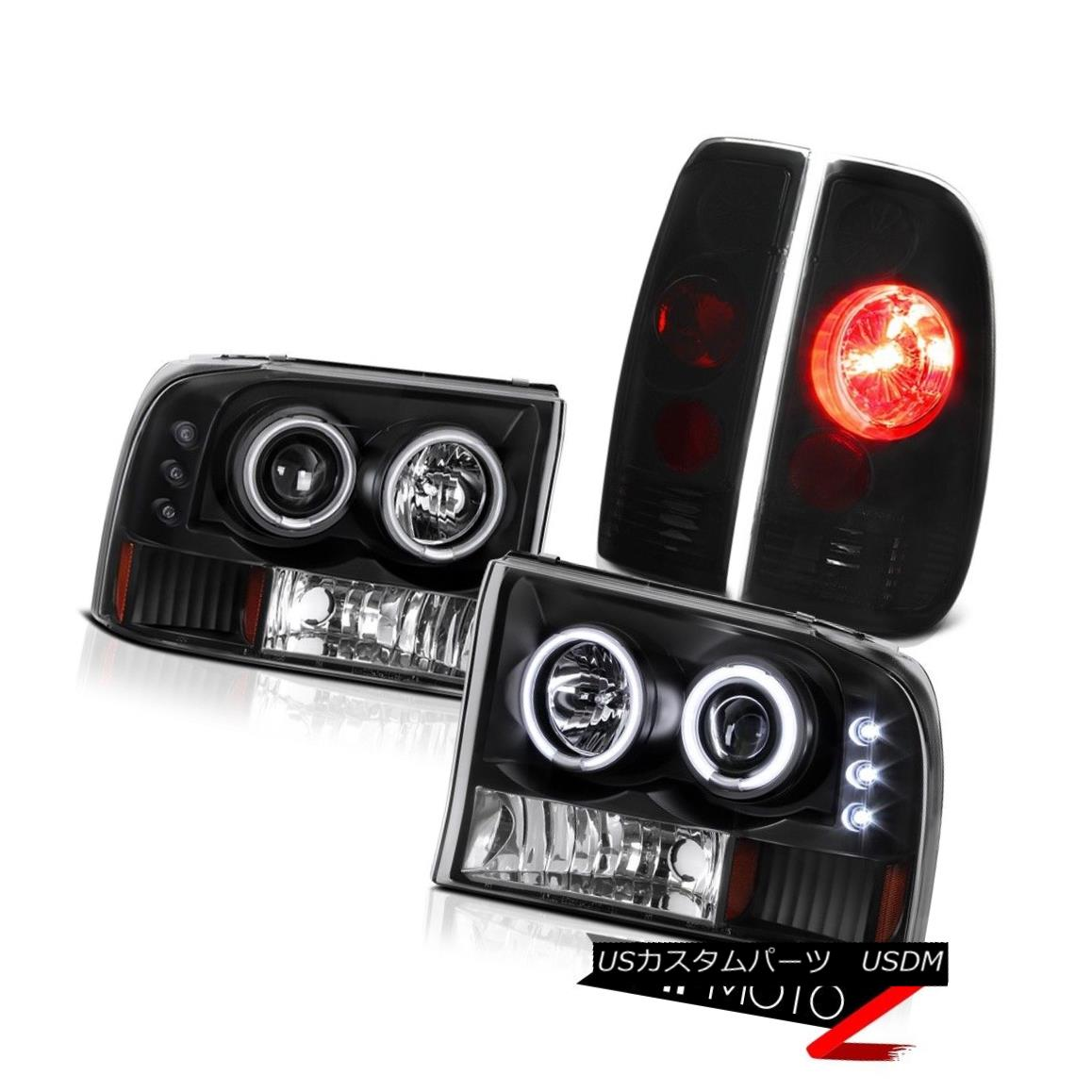 テールライト [SINISTER BLK] CCFL Halo Headlights Bumper Tail Lamp 99-04 F250 F350 Super Duty [SINISTER BLK] CCFL Haloヘッドライトバンパーテールランプ99-04 F250 F350 Super Duty