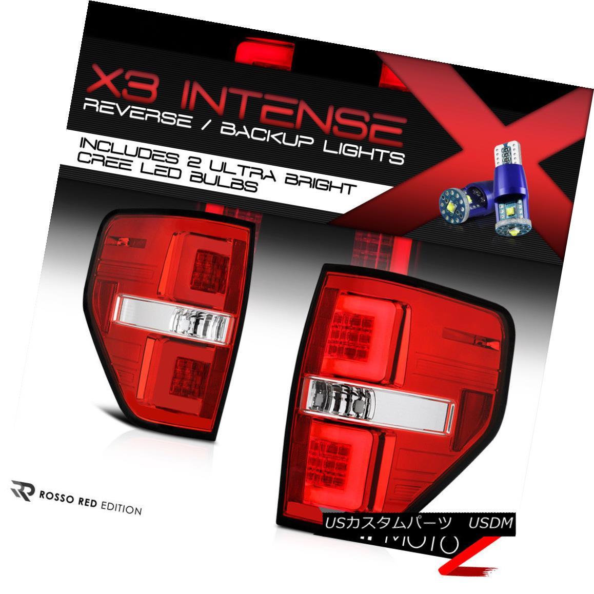テールライト [CREE Reverse Bulbs] 09-14 Ford F150 Red LED Bar Brake Signal Lamp Tail Light [CREE逆電球] 09-14 Ford F150赤色LEDバーブレーキ信号ランプテールライト